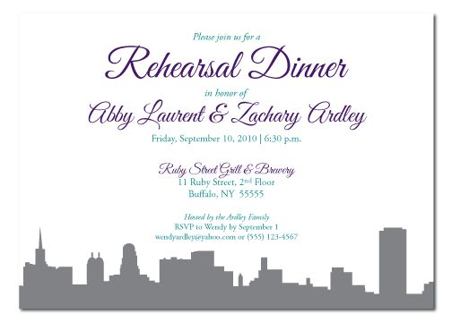 Rehearsal Dinner Invitation Wording | badbrya.com