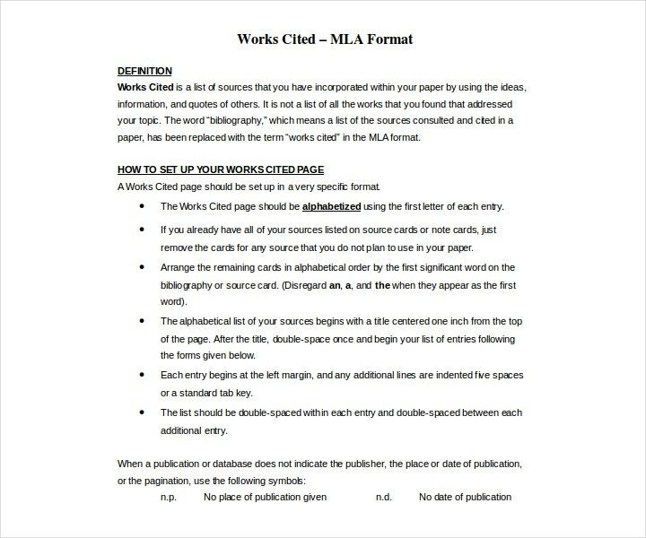 Work cited page mla format example Coursework Help yzhomeworkmzid - mla source format