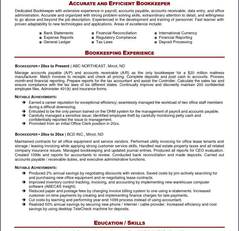bookkeeper resume sample online gallery photos of bookkeeper - Bookkeeper Resume Sample