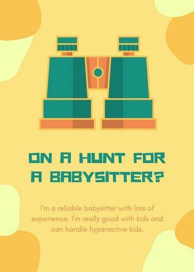 Babysitting Flyer Templates - Canva