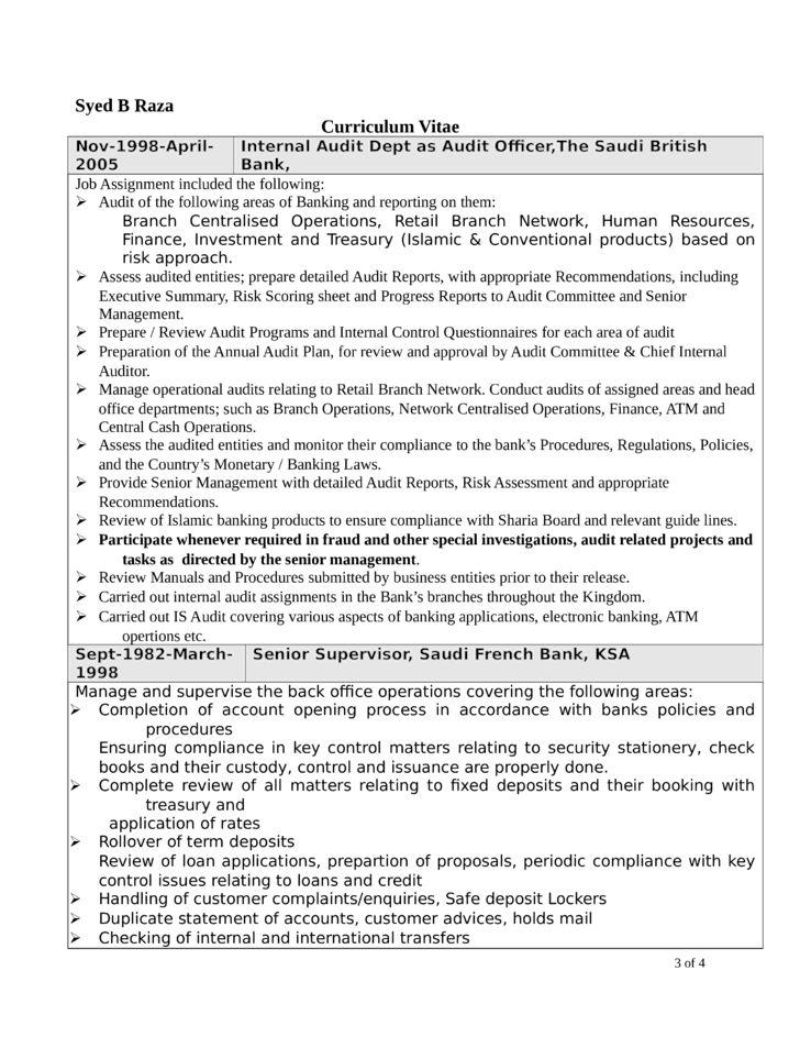 resume external auditor resume. internal auditor resume samples ...