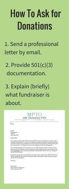 Use this template to send out requests for donations to support ...