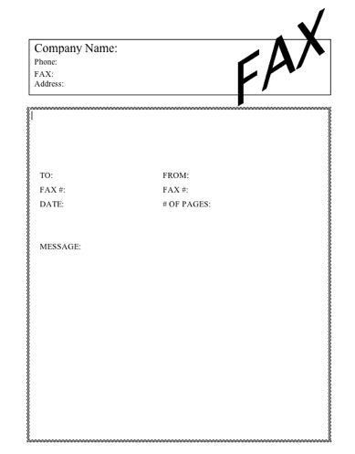 Basic #2 Fax Cover Sheet at FreeFaxCoverSheets.net