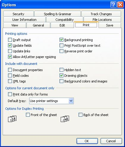 Using Non-Printing Notes (Microsoft Word)