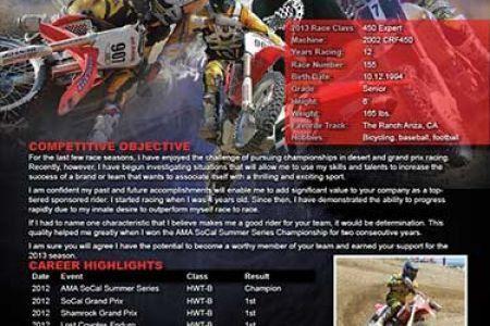 Motocross Sponsorship Resume Cover Letter, accepting resumes for ...