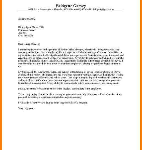 Marvellous Ideas What Should A Cover Letter Include 11 Examples Of ...