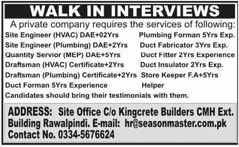 Insulator Job, Season Master Job, Private Company Job, Site ...