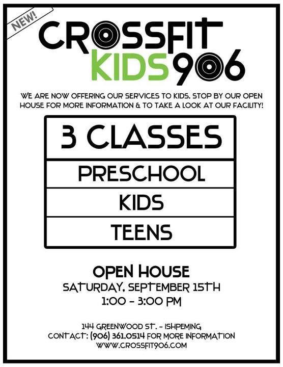CrossFit Kids 906 OPEN HOUSE - CrossFit 906