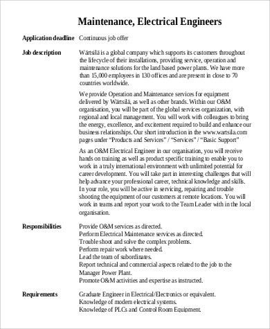 Sample Engineer Job Description. Network-Support-Engineer-Job ...