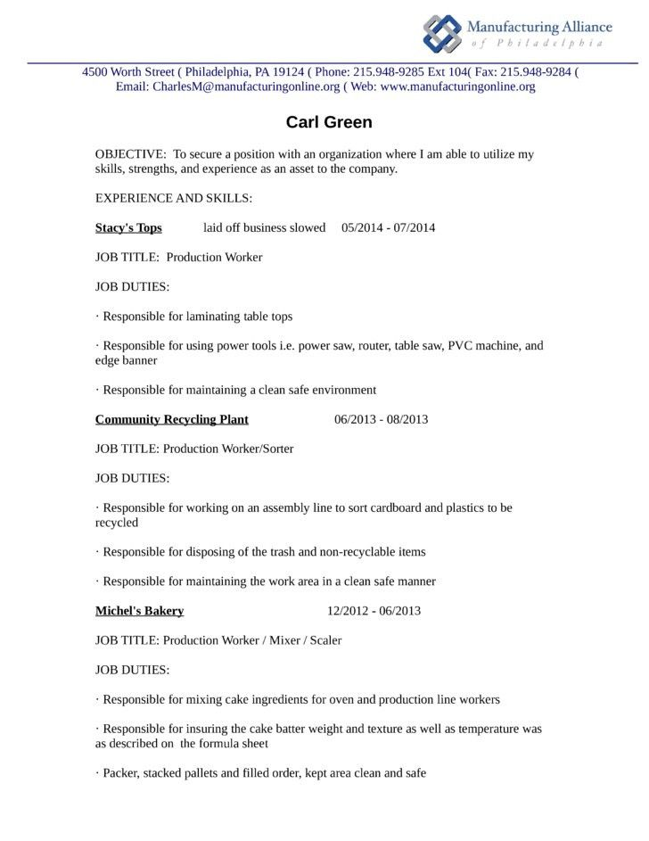 cebe5e4cd35e2474edb85ba6b5795148 production worker resume] production line worker resume examples wiring harness engineer resume at nearapp.co