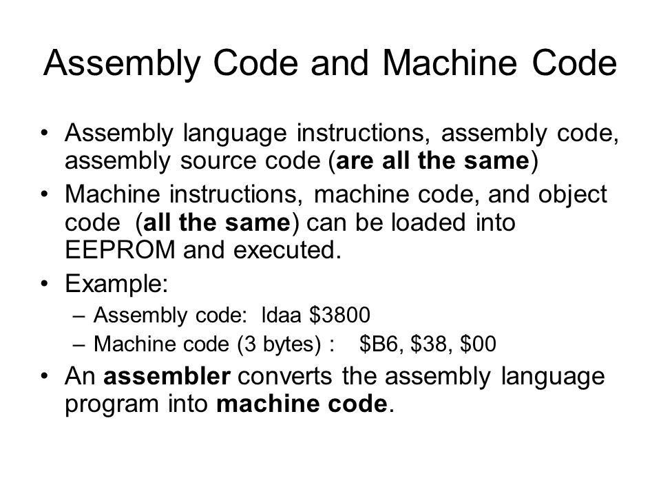 Ch.2 Intro. To Assembly Language Programming From Introduction to ...