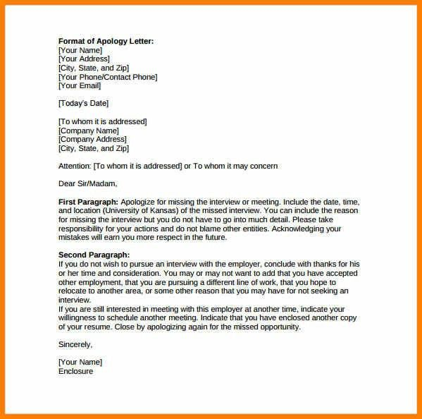 Template For Apology Letter Apology Letter Template Free