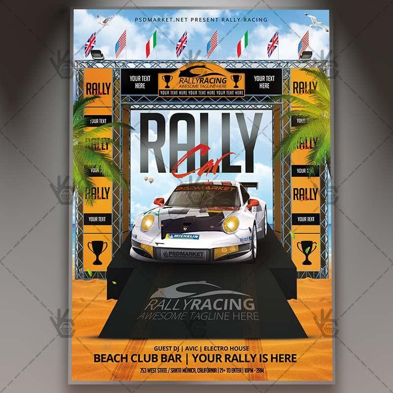 Car Rally - Premium Flyer PSD Template | PSDmarket
