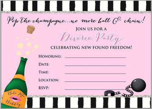 Divorce Party Invitation Design - Free - Label Templates - OL267 ...