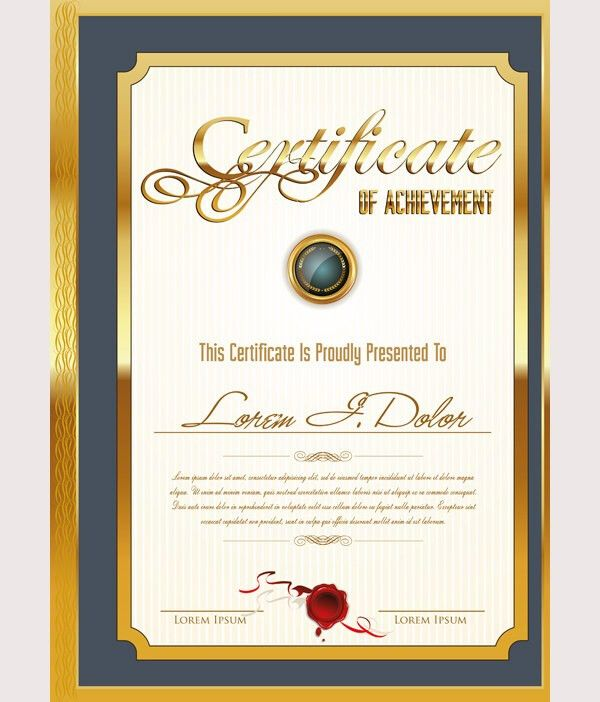 50+ Printable Certificate Templates - Free PSD, AI, Vector, EPS ...