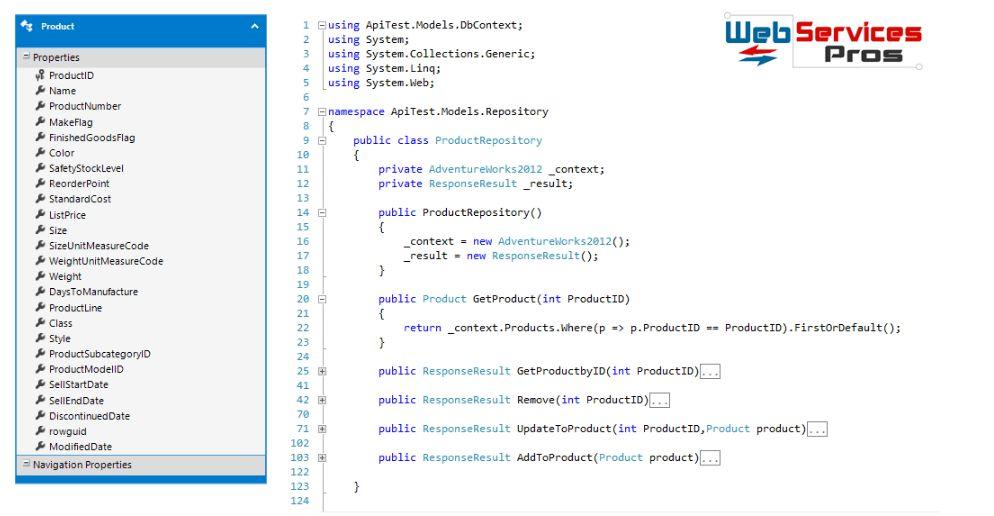 Webservicespros.com Web API Example