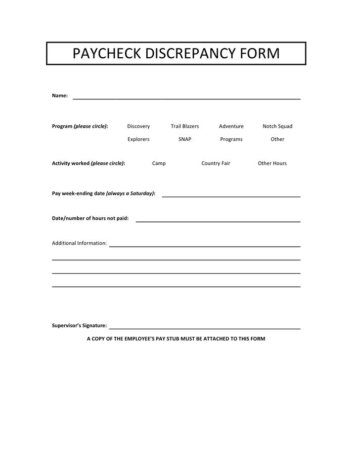Payroll Deduction Form - download free documents for PDF, Word and ...