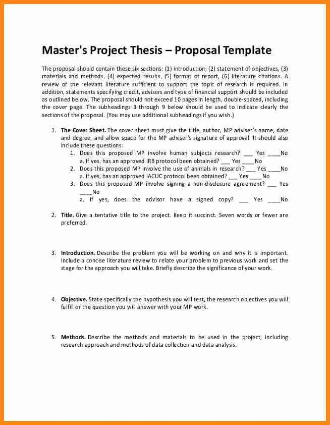 4+ research project proposal example | model resumed