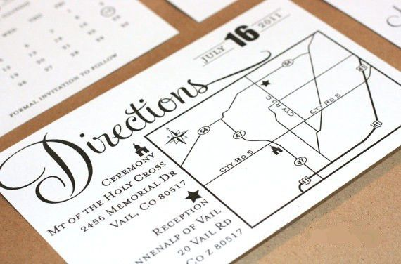 information avaiable direction cards for wedding invitations share ...