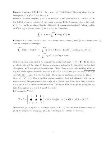 Proof of Stokes' Theorem (not examinable)