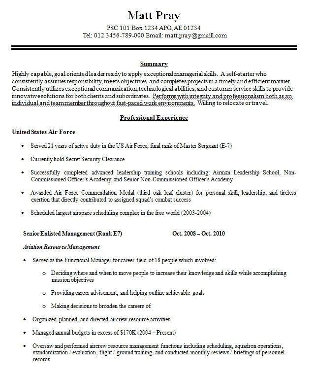 military resume builder free resume cv cover letter