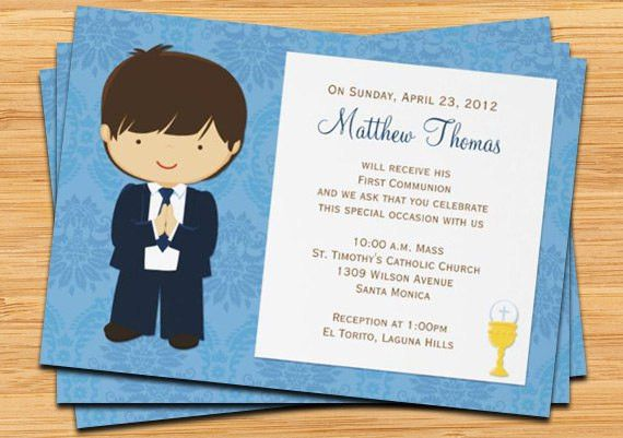 First Communion Party Invitations - marialonghi.Com