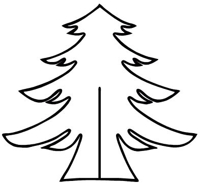 CHRISTMAS TREE CUTOUT PATTERN | Patterns and Ideas | Xmas ...