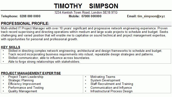 personal cv template | good resume format
