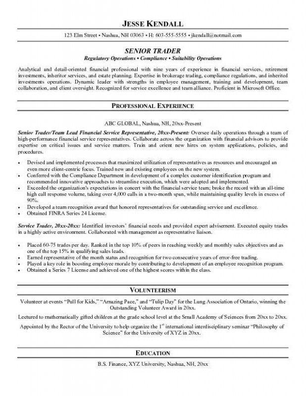 stock broker resume resume examples - Mortgage Broker Resume Sample