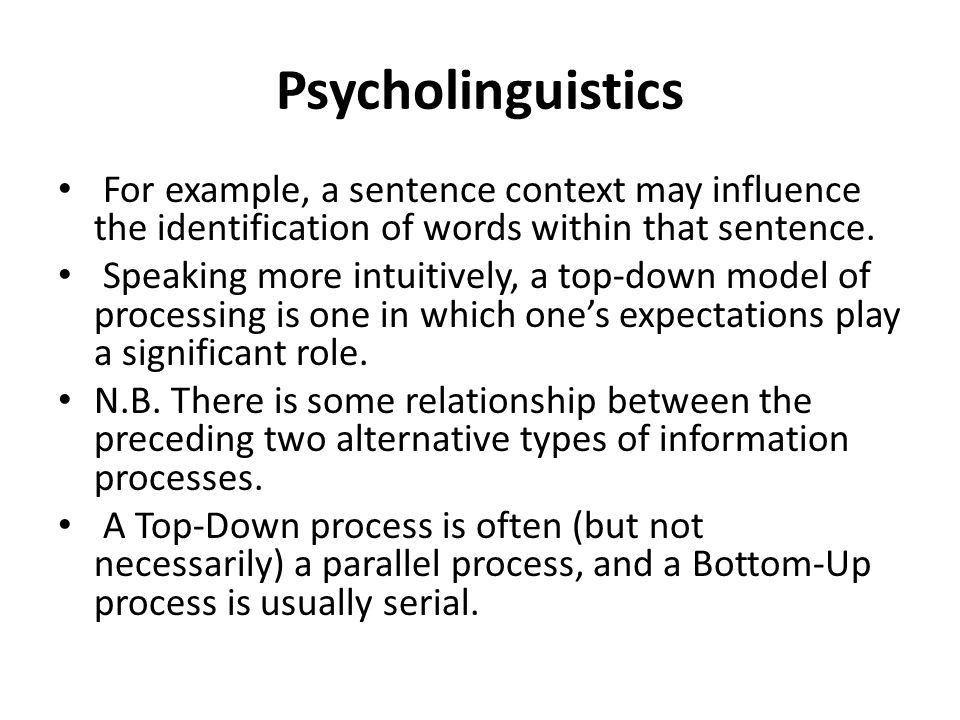 Psycholinguistics Lecture# 7. Psycholinguistics Permanent memory ...