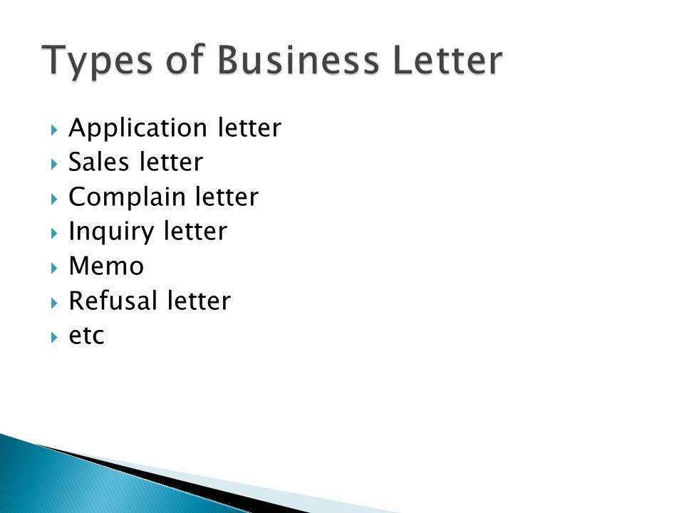 English Business Letter - ppt video online download