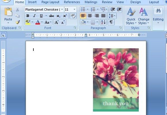 Thank You Card Templates For Word