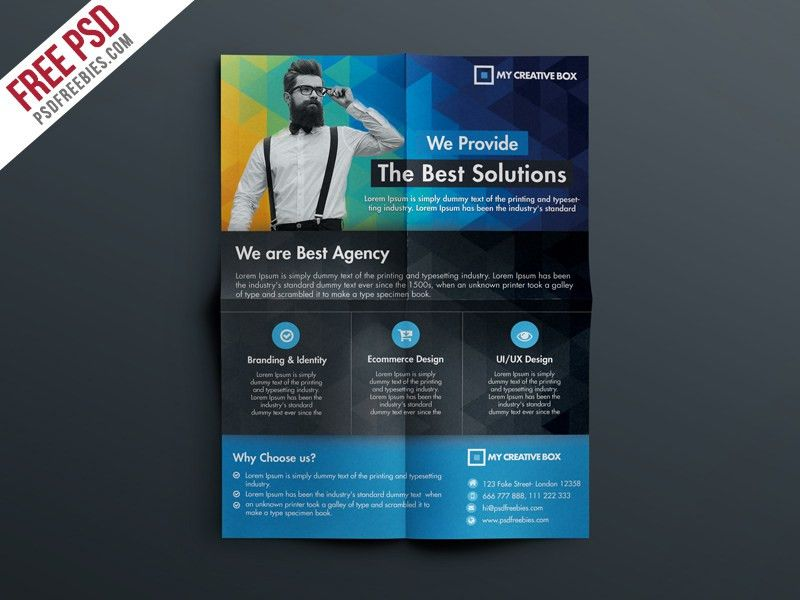 Free Multipurpose Corporate Flyer Template PSD | PSDFreebies.com