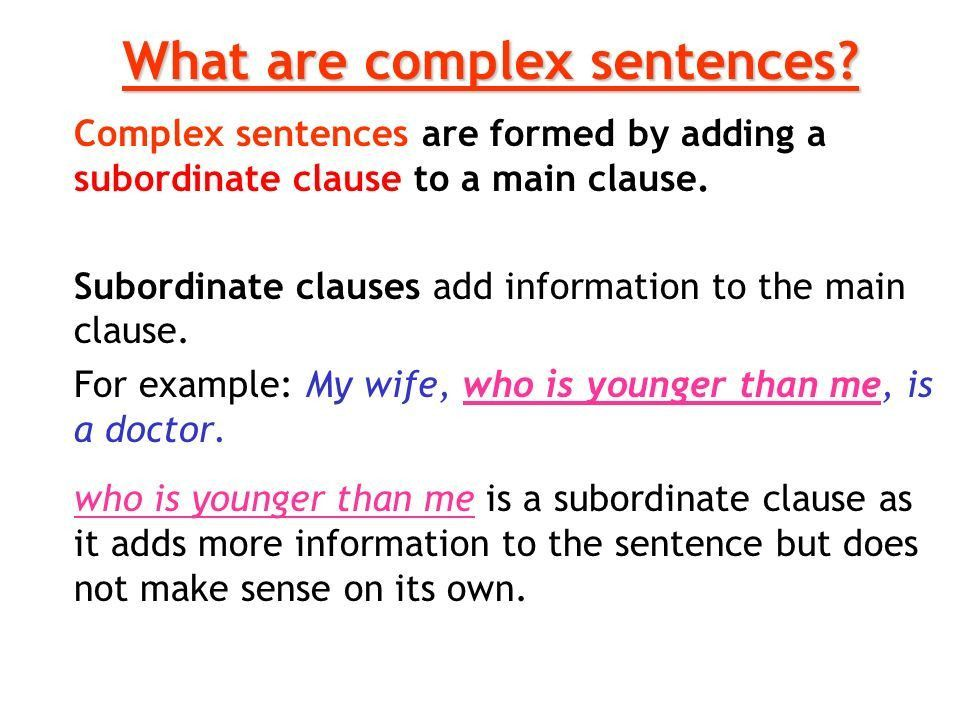 The Subordinate Clause - ppt download