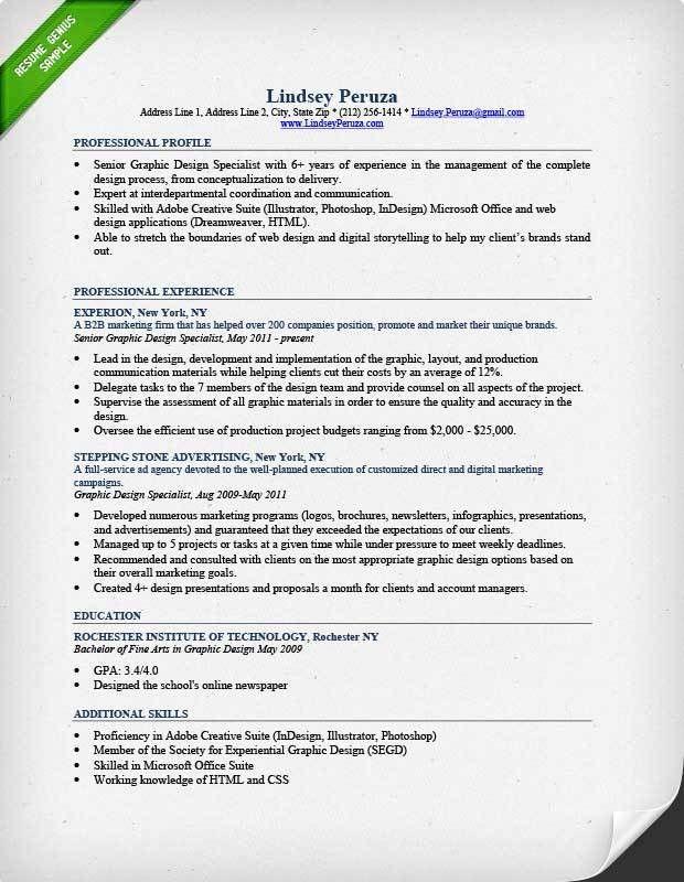 graphic designer resume template. creative resume template for ...