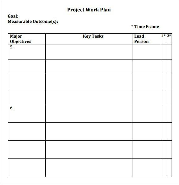 Sample Work Plan - 6+ Documents In PDF, Word