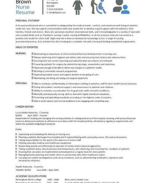Nice Design Nursing Resume Template 10 CV Template Nurse Resume ...