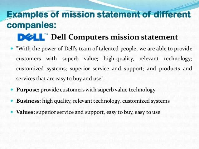 Vision and mission of companies