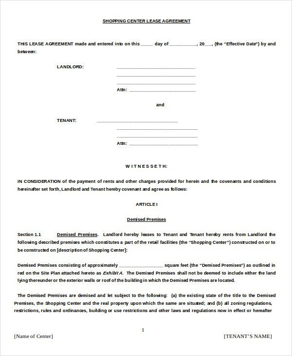 Lease Agreement Example. Sample Texas-Commercial-Lease Free Texas ...