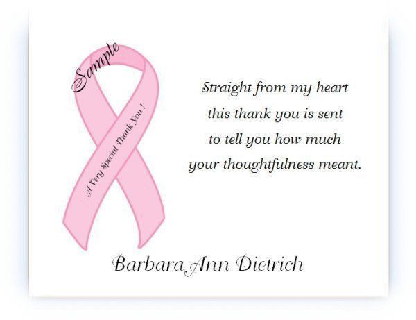 Thank You Card: Top Breast Cancer Thank You Cards Breast Cancer ...