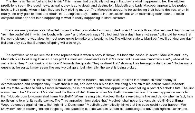 Macbeth deception essay - our work