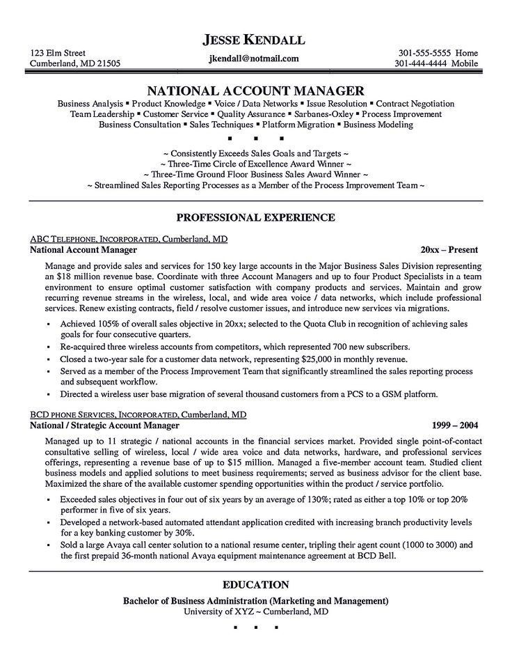 territory sales account manager resume example. executive resume ...