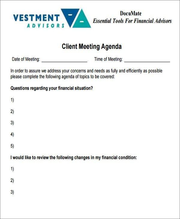 41+ Meeting Agenda Templates | Free & Premium Templates