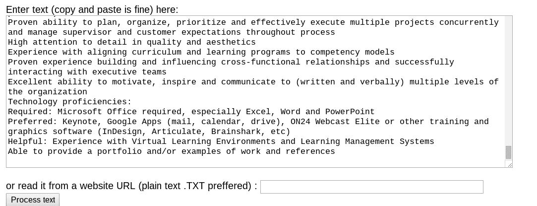 Resume Analysis and How to Choose Keywords for a Resume