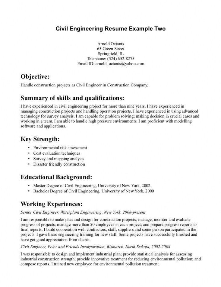 Beautiful Graduate Resume Civil Engineering Pictures - Best Resume ...