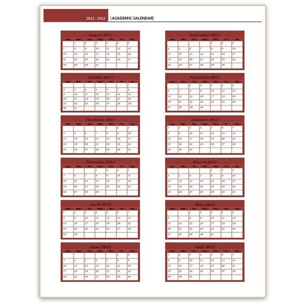 Download a Free Yearly Calendar Template: Word Makes it Easy! Lots ...