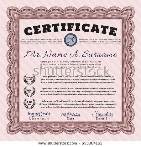 Vector Certificate Template Stock Vector 310597682 - Shutterstock