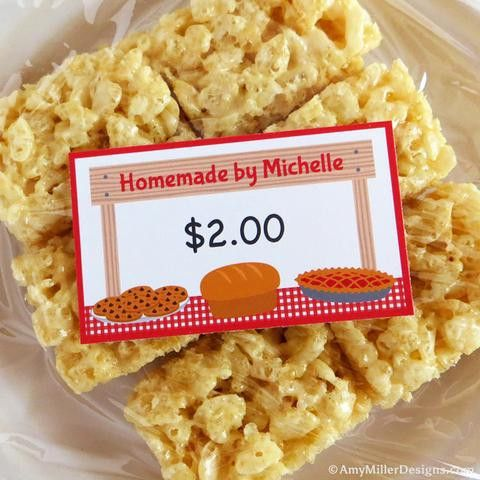 Printables | Bake-Sale-Labels | Amy Miller Designs