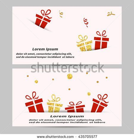 Christmas New Year Gift Voucher Certificate Stock Vector 342574730 ...
