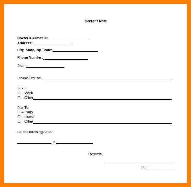 5+ doctor note template | authorized letter